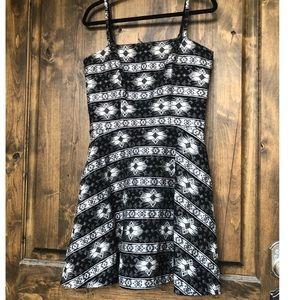 New Sam Edelman Black White Metallic Dress Size 12